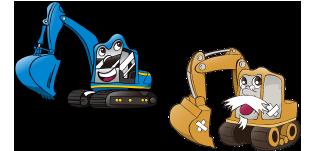 油圧ショベル ミニ油圧ショベル ブルドーザー ホイールローダー フォークリフト ダンプトラック 不整地運搬車(キャリアダンプ) 道路機械 クレーン